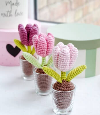 Crochet Tulip Amigurumi Pattern by Knit Zoo