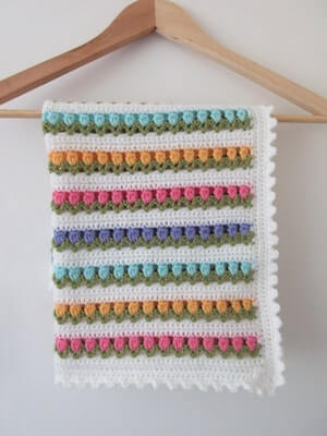 Crochet Tulip Blanket Pattern by Addie's Knitted Gifts