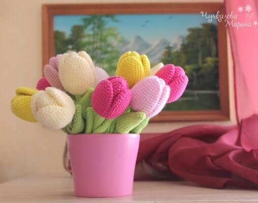 Crochet Tulip Pattern by My Crochet Wonders