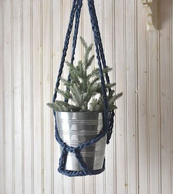 DIY Crochet Plant Hanger Pattern by The Spruce Crafts
