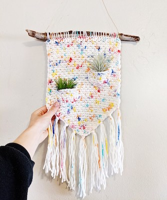 Air Hanging Plant Crochet Pattern by Hello Happy