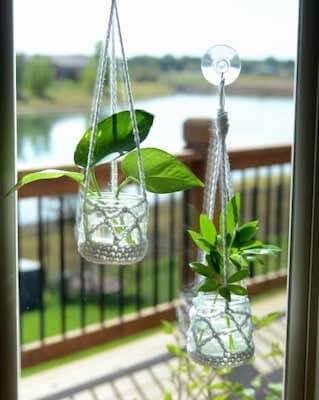 Houseplant Clippings Plant Hanger Crochet Pattern by Heart Hook Home