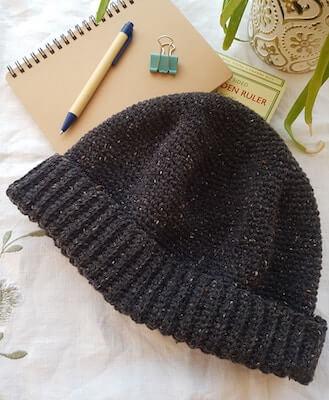 Men's Beanie Crochet Pattern by Nancy Said