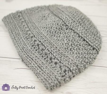 Easy Mens Crochet Hat Pattern by Salty Pearl Crochet