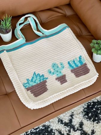 Lady Tote Plant Crochet Pattern by Evelyn And Peter Crochet