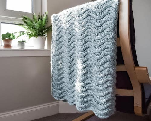 Quiet Ripple Crochet Blanket Pattern by Only As Brave
