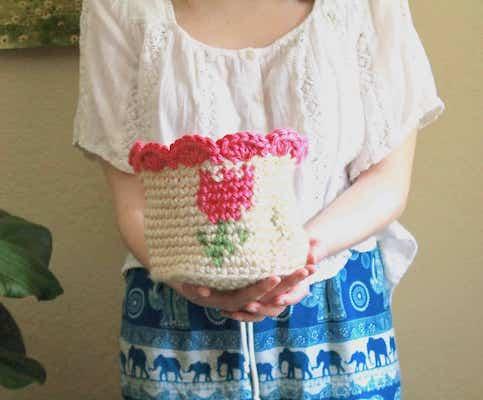 Spring Tulip Basket Crochet Pattern by Joy Of Motion Crochet
