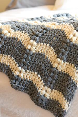 Vintage Lola Free Crochet Ripple Blanket Pattern by Mama In A Stitch