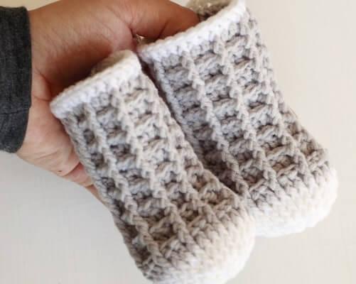 Watson Waffle Crochet Socks Pattern by Lakeside Loops