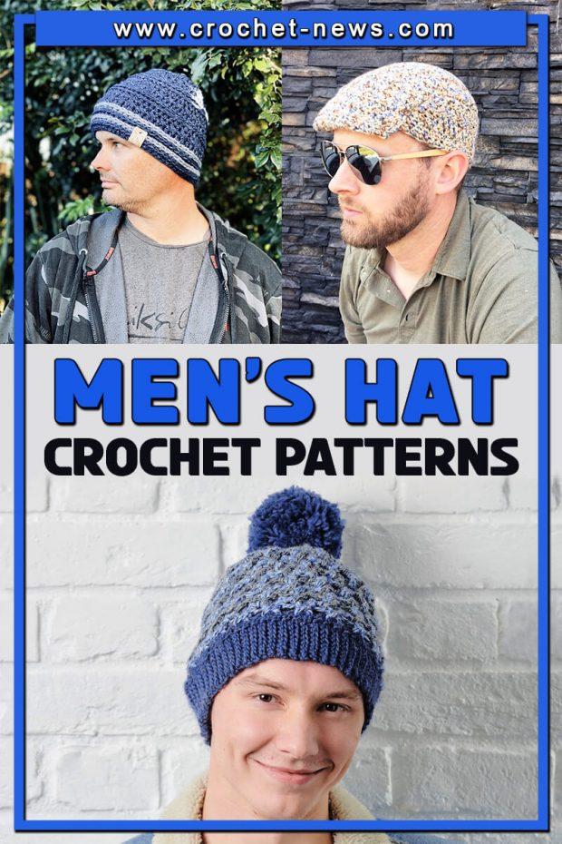CROCHET MEN'S HAT PATTERNS