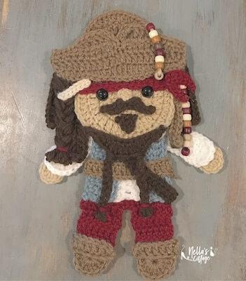 Crochet Pirate Pattern by Nella's Cottage